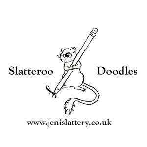 Slatteroo doodles logo full